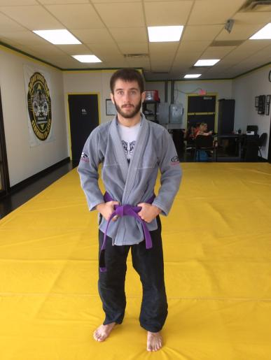 Assistant BJJ Instructor Purple Belt Ian Bravard