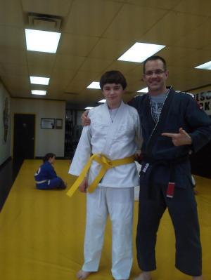 Carlson Gracie Indianapoils Brazilian Jiu Jitsu Yellow Belt Evan Anderson